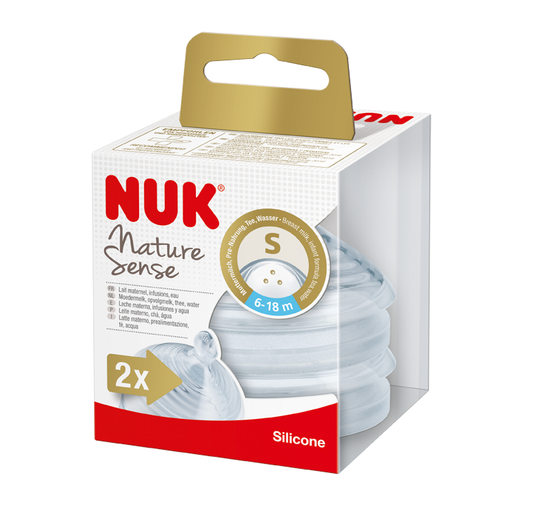 NUK Nature Sense savička V2, S, 2ks