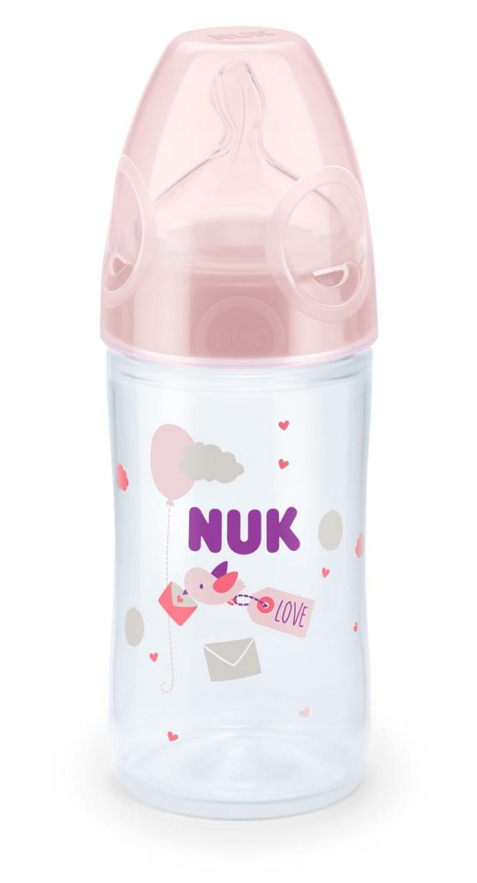 NUK láhev LOVE 150ml, 0-6 m, růžová