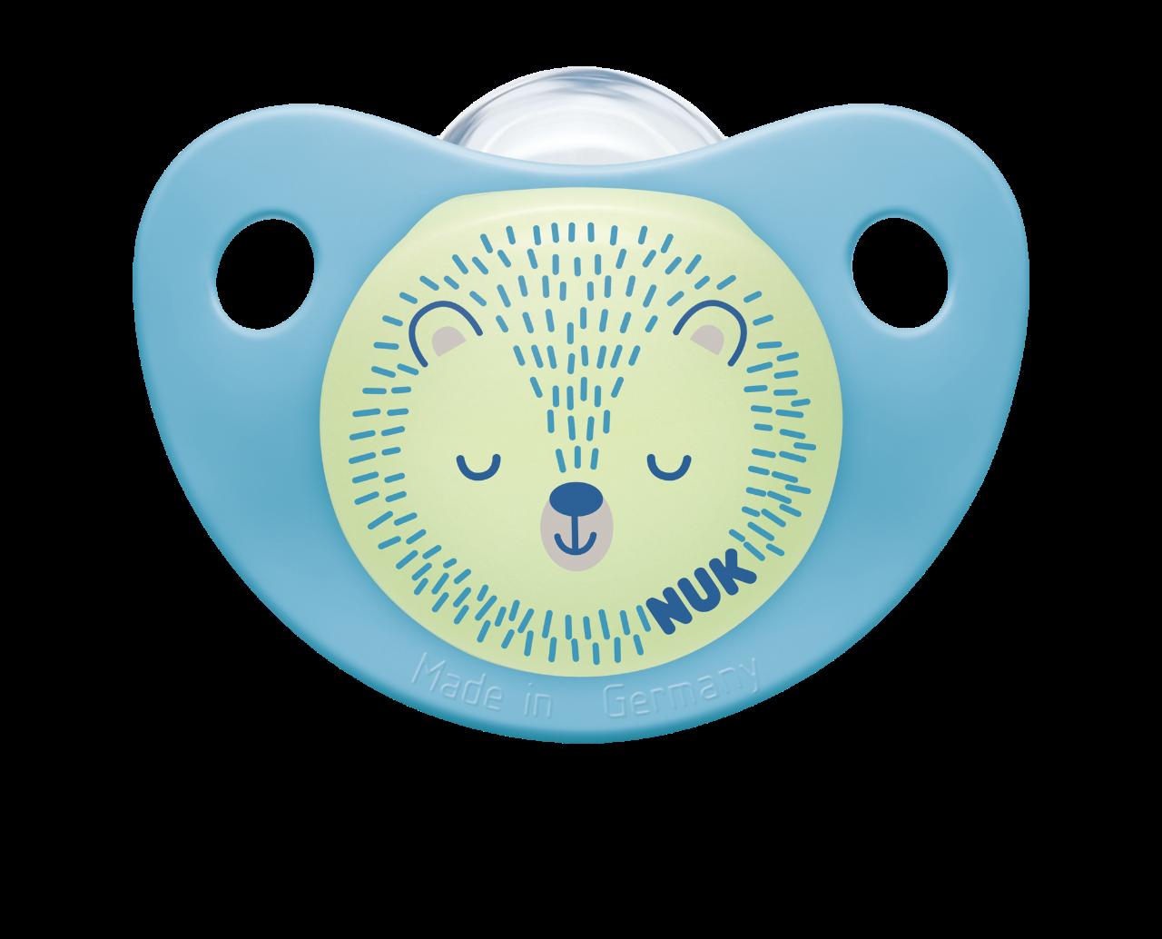 NUK Dudlík DEN & NOC, 0-6 m, modrá