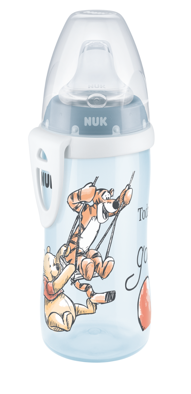 NUK FC Active Cup Medvídek Pú, 300 ml, modrá