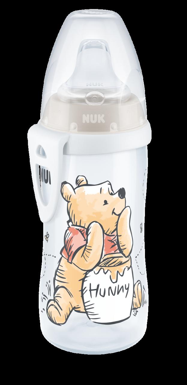 NUK FC Active Cup Medvídek Pú, 300 ml, béžová