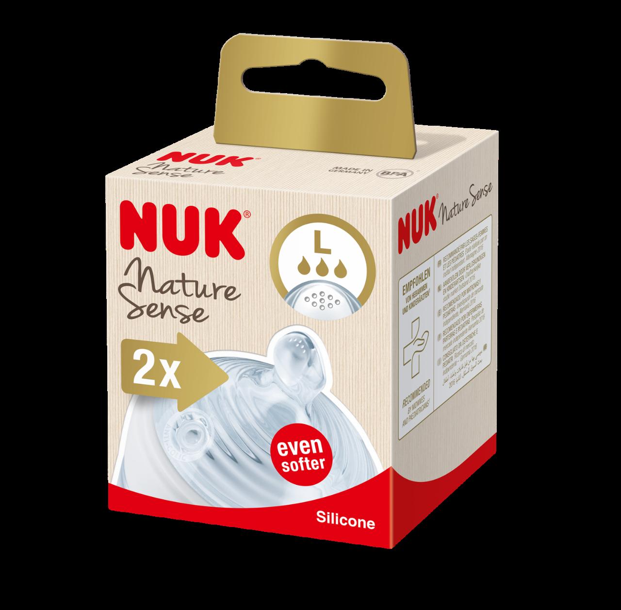 NUK Nature Sense savička vel L, 2 ks